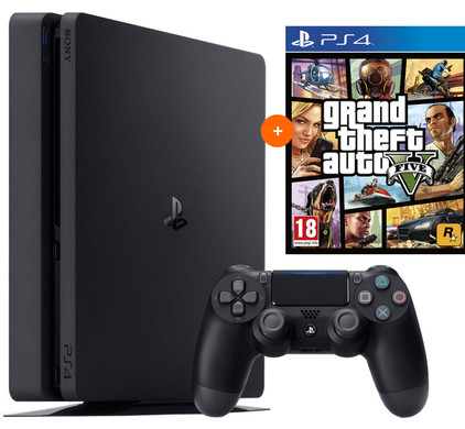 PS4 Slim 500GB +GTA V PS4