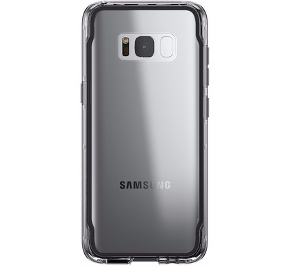 low priced 7c1f0 0fa0b Griffin Survivor Clear Samsung Galaxy S8 Plus Back Cover Black