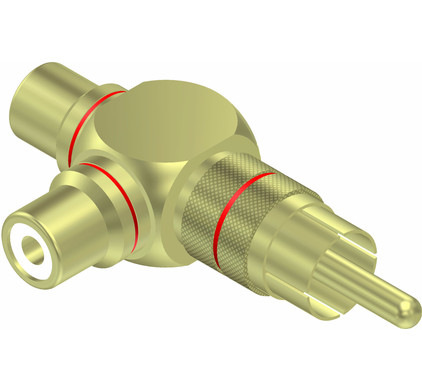 Procab VC220 2x RCA Female - RCA Male Adapter Set