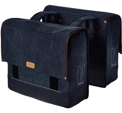 Basil Urban Fold Dubbel 40L Denim Blauw