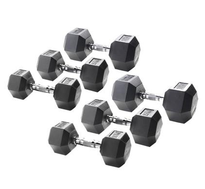 Crossfit Uitbreiding Liften Met Dumbbells 10, 15, 20 kg
