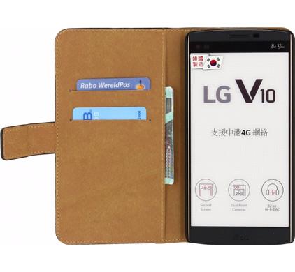 Mobilize Classic Wallet Book Case LG V10 Zwart