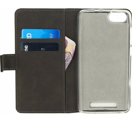 Mobilize Gelly Wallet Book Case Wiko Lenny 3 Zwart
