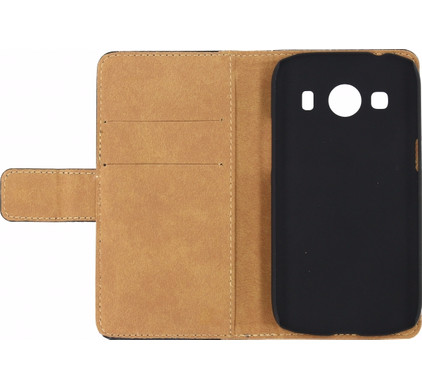 Mobilize Slim Wallet Case Samsung Galaxy Ace 4  Zwart