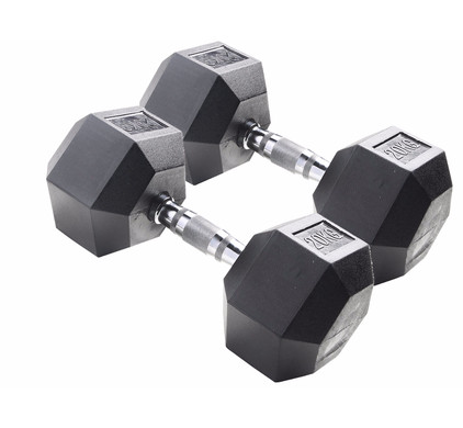 Body Sculpture Hexa Rubber Dumbbells 2x 20 kg