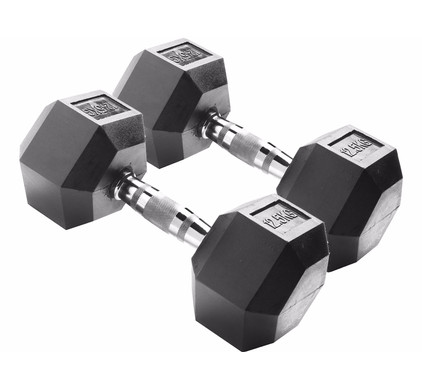Body Sculpture Hexa Rubber Dumbbells 2x 12,5 kg