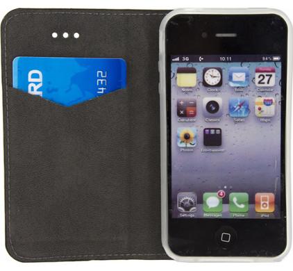 Mobilize Premium Gelly Apple iPhone 4/4S Book Case Zwart