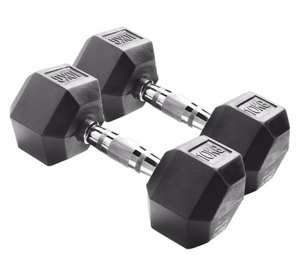 Body Sculpture Hexa Rubber Dumbbells 2x 10 kg