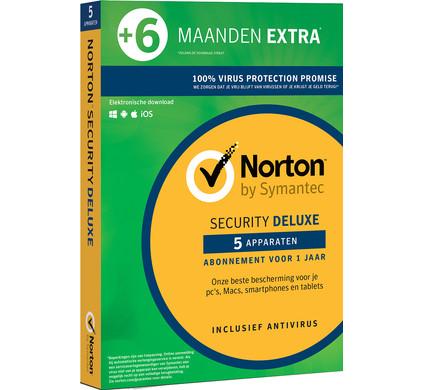 Norton Security Deluxe 3.0 1,5 jaar abonnement