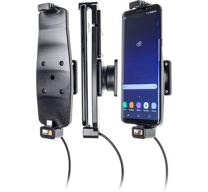 Brodit Holder Samsung Galaxy S8 Plus with charger Main Image