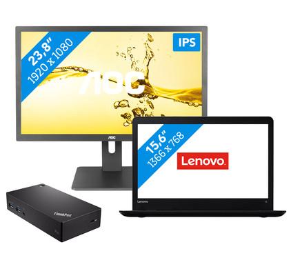 Dockingpakket 1 scherm - Lenovo ThinkPad E570 - i3-8gb-128ss