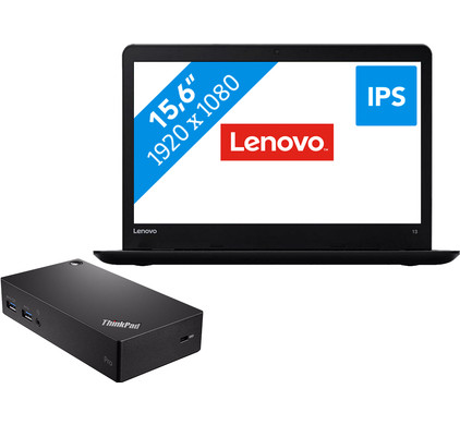 Lenovo ThinkPad E570 - i5-8gb-256ssd-fhd + USB 3.0 Pro Dock