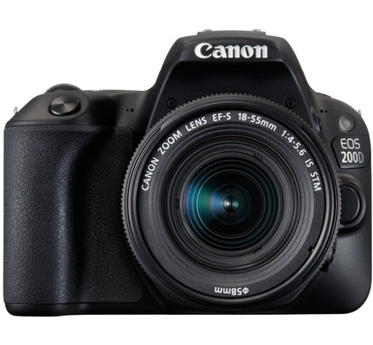Canon EOS 200D Zwart + 18-55mm IS STM