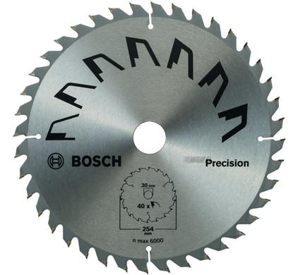 Bosch Cirkelzaagblad Precision 254x30x2mm T40