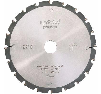 Metabo Zaagblad Power Cut 216mm 20T