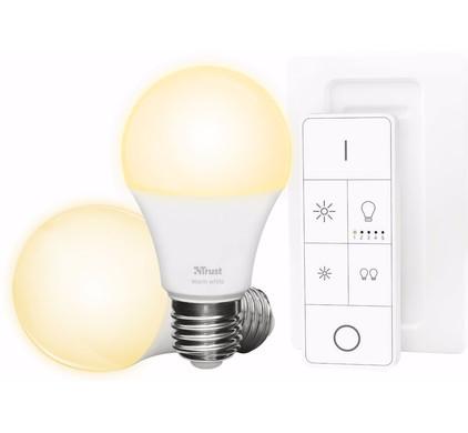 Trust Smart Home White E27 Duopack met Afstandsbediening