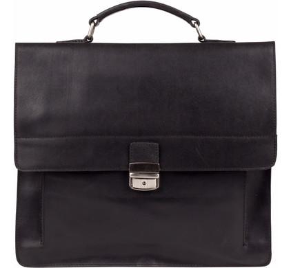 Burkely Vintage Scott Briefcase 2-Comp - Zwart