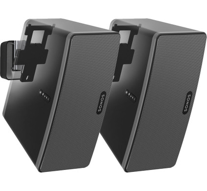 SONOS PLAY:3 Duo Pack Zwart + Vogel's PLAY:3 Muurbeugels