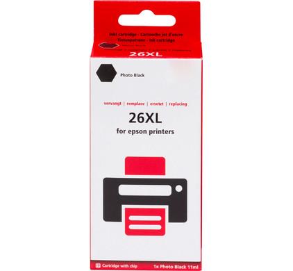 Huismerk 26 XL (T2631) Fotozwart voor Epson printers (C13T26314010)