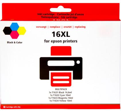 Huismerk 16 XL 4-Kleuren Pack voor Epson printers (C13T16364010)