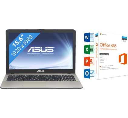 ASUS VIVOBOOK A541UA-DM1741T + Office 365 1 jaar