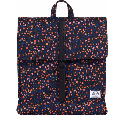 Herschel City Mid-Volume Black Mini Floral/Black Synthetic Leather