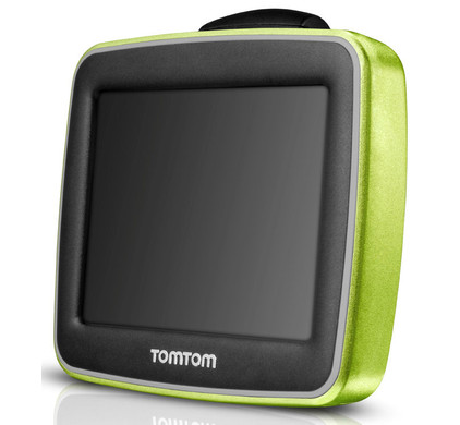 TomTom StartSkins Electric Green + Tas
