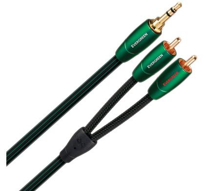 AudioQuest Evergreen 3,5 mm naar RCA 1 meter
