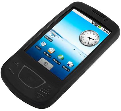 Brando Silicon Case Black Samsung i7500 + Screenprotector