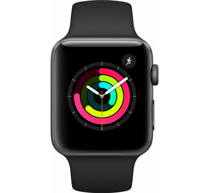 Apple Watch Series 3 38mm Space Grey Aluminium/Zwarte Sportband