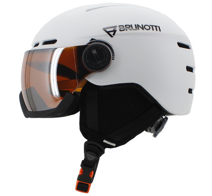 Brunotti Oberon 5 Women White + Orange Mirror Vizier (59 - 61 cm)