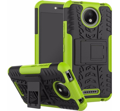 Just in Case Rugged Hybrid Motorola Moto C Plus Back Cover Groen