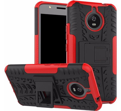 Just in Case Rugged Hybrid Motorola Moto E4 Plus Back Cover Rood