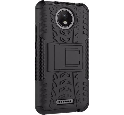 Just in Case Rugged Hybrid Motorola Moto C Plus Back Cover Zwart