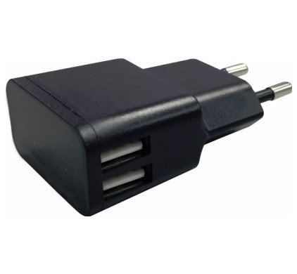 Generic Wall Charger Thuislader Dual USB 2.4A Zwart