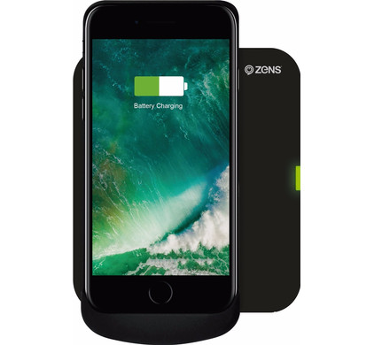 Zens Qi Wireless Charger Black + iPhone 6/6s/7 Charging Case Main Image