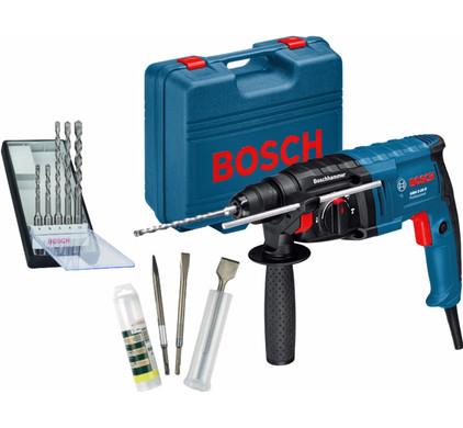 Bosch GBH 2-20 D + Bosch 5-delige borenset + Bosch beitelset