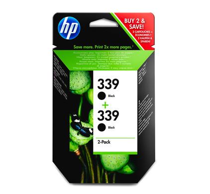 HP 339 Double Pack Zwart (C9504EE)
