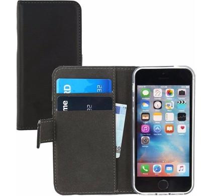 Mobilize Gelly Wallet Book Case Apple iPhone 5/5S/SE Zwart