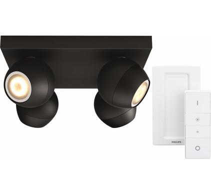 Philips Hue Buckram 4-Spot Zwart met Dimmer