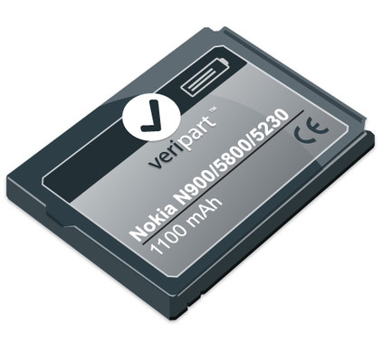 Veripart Battery for Nokia N900/5800/5230/X6 + Thuislader