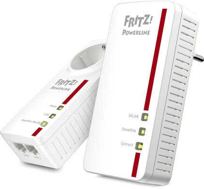 AVM FRITZ!Powerline 1260E WLAN Set International WiFi 1200 Mbps 2 adapters