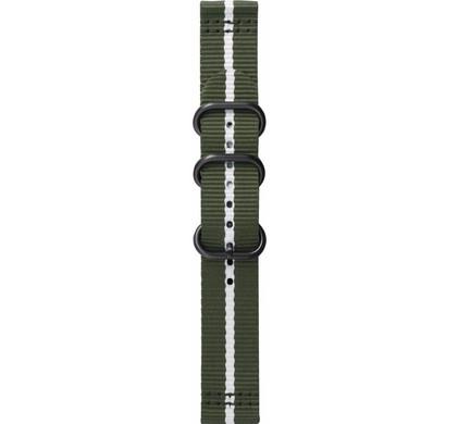 Samsung Gear Sport Premium Nylon Horlogeband Groen/Wit