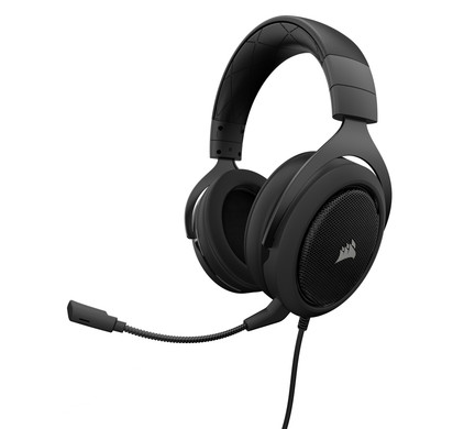 Corsair HS50 Stereo Gaming Headset Zwart Main Image