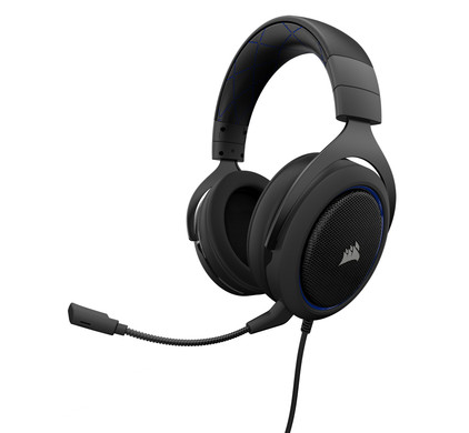 Corsair HS50 Stereo Gaming Headset Blue Main Image