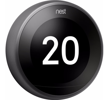 Nest Learning Thermostat V3 Premium Zwart