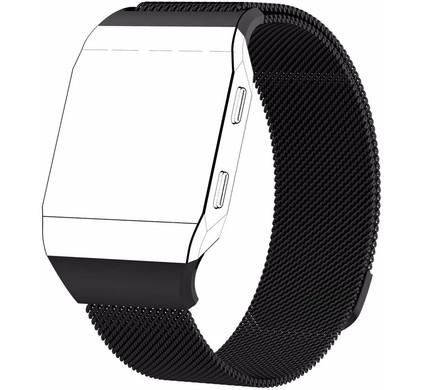 Just in Case Fitbit Ionic Milanees Horlogeband Zwart S