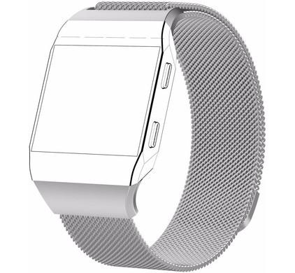 Just in Case Fitbit Ionic Milanees Horlogeband Zilver S