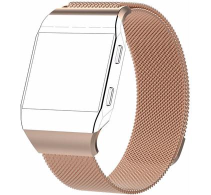 Just in Case Fitbit Ionic Milanees Horlogeband Rose Gold S