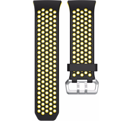 Just in Case Fitbit Ionic Siliconen Horlogeband Zwart/Geel